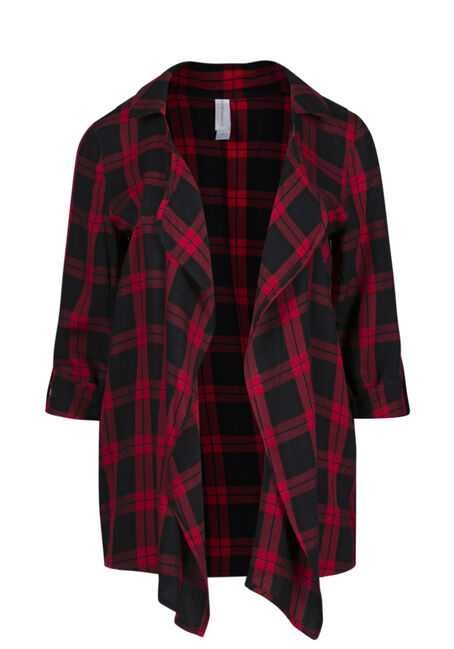 Ladies' Buffalo Plaid Cardigan