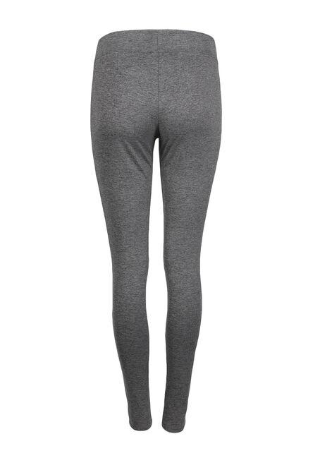 Ladies' Wide Waistband Legging, CHARCOAL, hi-res