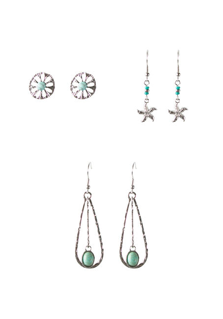 Ladies' Beachy Trio Earring Set