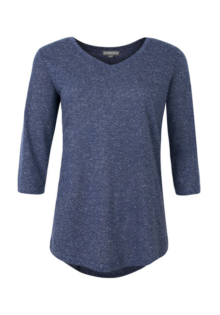 Ladies' V-Neck Tunic Tee, BLUE VIOLET, hi-res