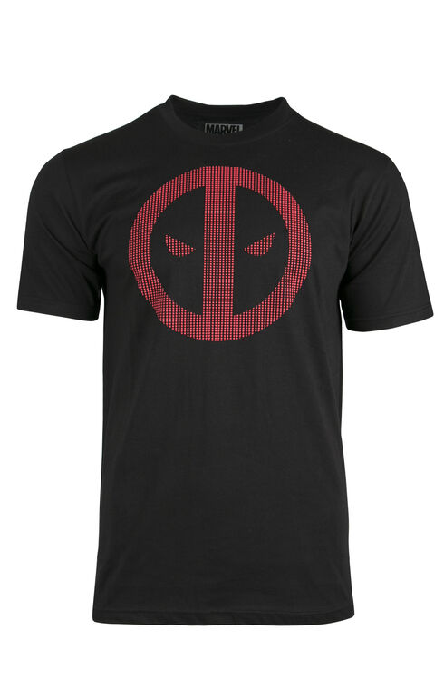Men's Deadpool Textured Print Tee, BLACK, hi-res