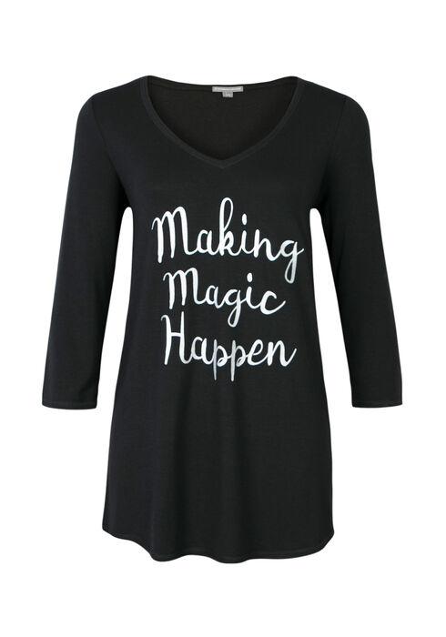 Ladies' Making Magic Happen Tunic, BLACK, hi-res