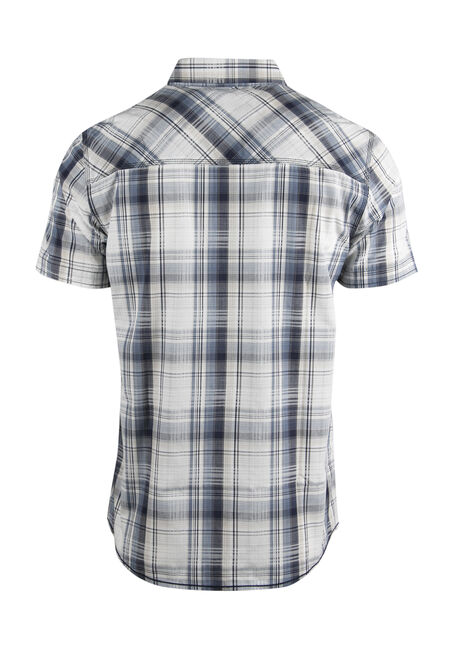 Men's Relaxed Plaid Shirt, NAVY, hi-res