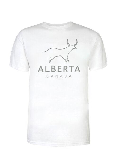 Men's Alberta Longhorn Tee, WHITE, hi-res