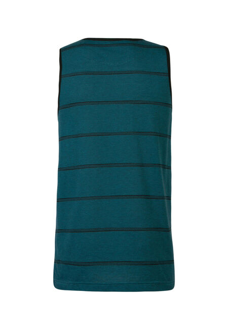 Men's Stripe Tank, AQUA, hi-res