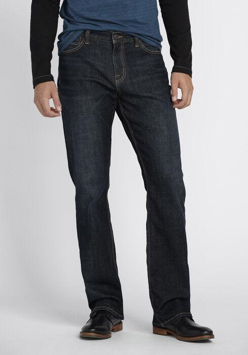 Men's Classic Boot Jeans, DARK VINTAGE WASH, hi-res