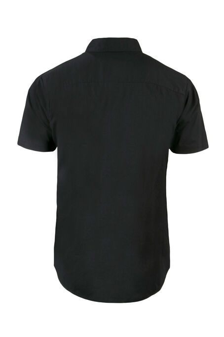 Men's Poplin Shirt, Black, hi-res
