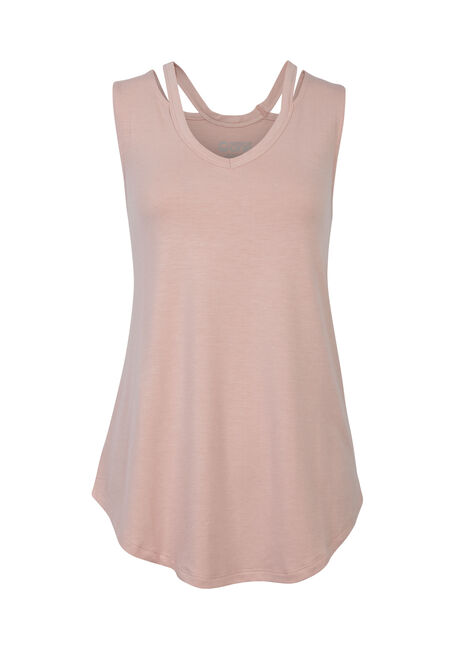 Ladies' Cut Out Tank, PEONY, hi-res