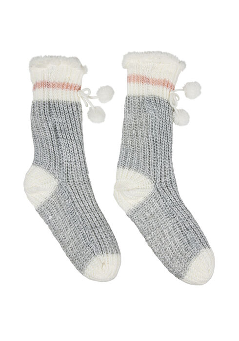 Ladies' Cabin Slipper Sock, PALE PINK, hi-res