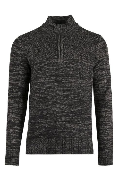 Men's Mock Neck Sweater, CHARCOAL, hi-res