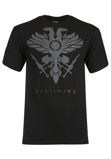 Men's Destiny Reflective Print Tee, BLACK, hi-res