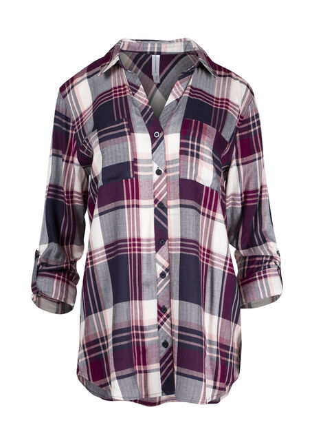 Ladies' Boyfriend Plaid Shirt