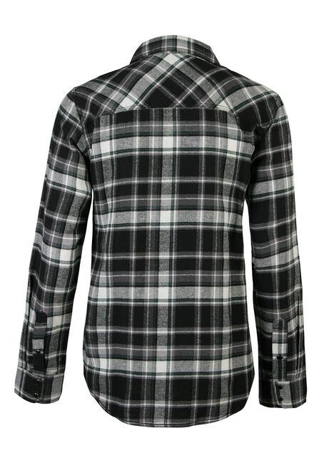 Men's Long Sleeve Flannel Shirt, GREEN, hi-res