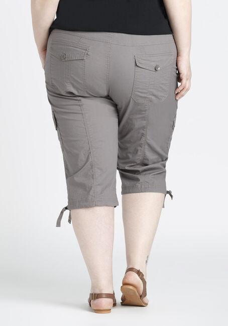Ladies' Plus Size Cargo Capri, TAUPE, hi-res