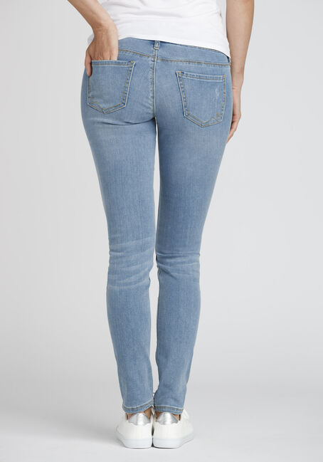 Ladies' Destroyed Skinny Jean, LIGHT WASH, hi-res