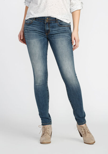 Ladies' Skinny Jeans, LIGHT VINTAGE WASH, hi-res