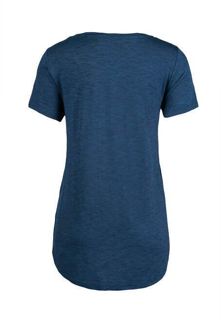 Ladies' Relaxed V-Neck Tee, MIRAGE BLUE, hi-res