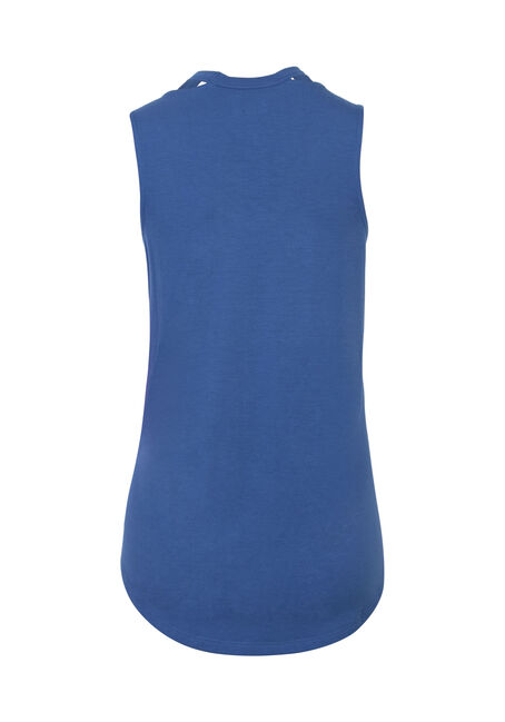 Ladies' Cut Out Tank, MARINA BLUE, hi-res