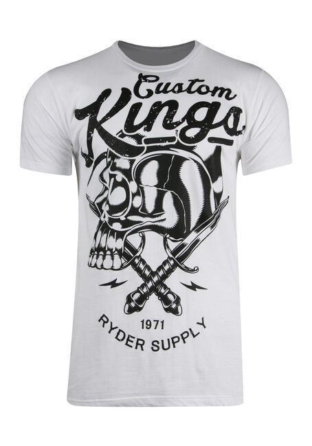 Men's Custom Kings Tee, WHITE, hi-res