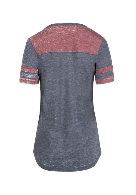 Ladies' Burnout Football Tee, CARDINAL/ECLIPSE, hi-res