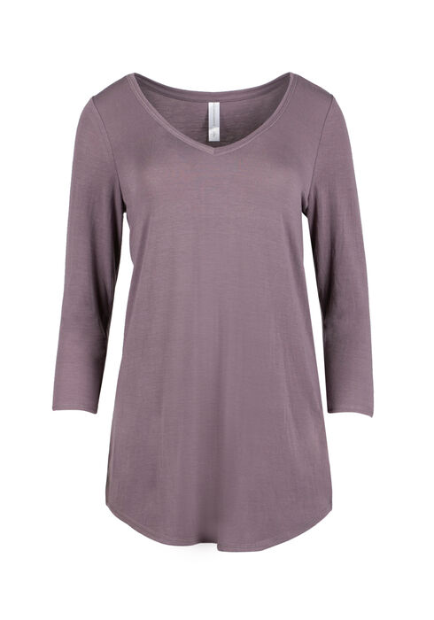Ladies' Tunic Tee, DUSTY PURPLE, hi-res