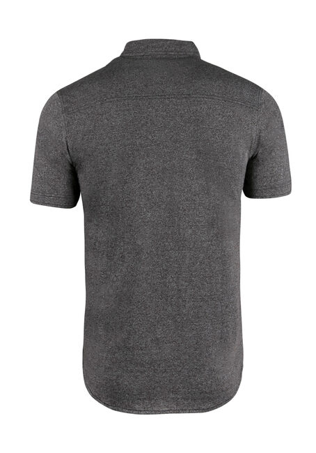 Men's Knit Shirt, CHARCOAL, hi-res