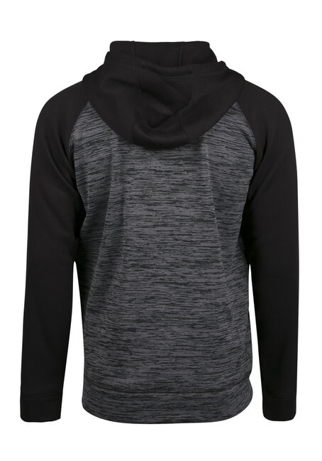 Men's Colour Block Hoodie, CHARCOAL, hi-res