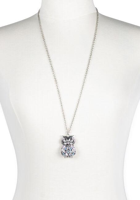 Ladies' Iridescent Owl Necklace