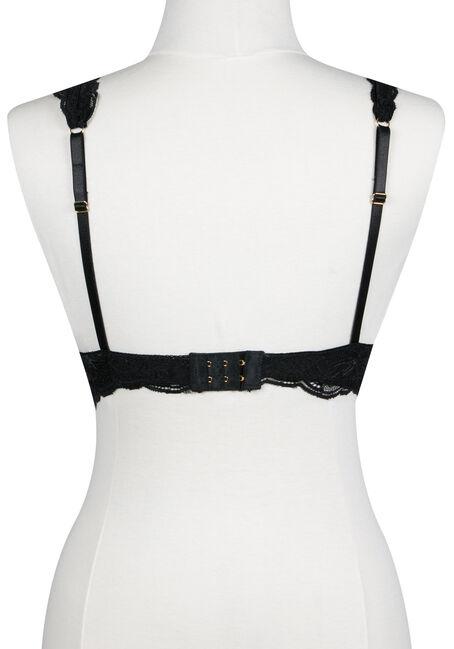 Ladies' Lace Strap Bralette, BLACK, hi-res