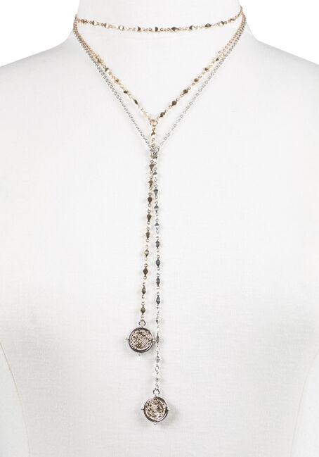 Ladies' Duo Necklaces, MIXED METALS, hi-res