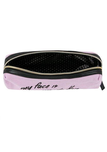 Ladies' Zippered Pouch, PINK, hi-res
