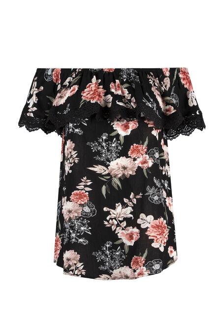 Ladies' Floral Bardot Top