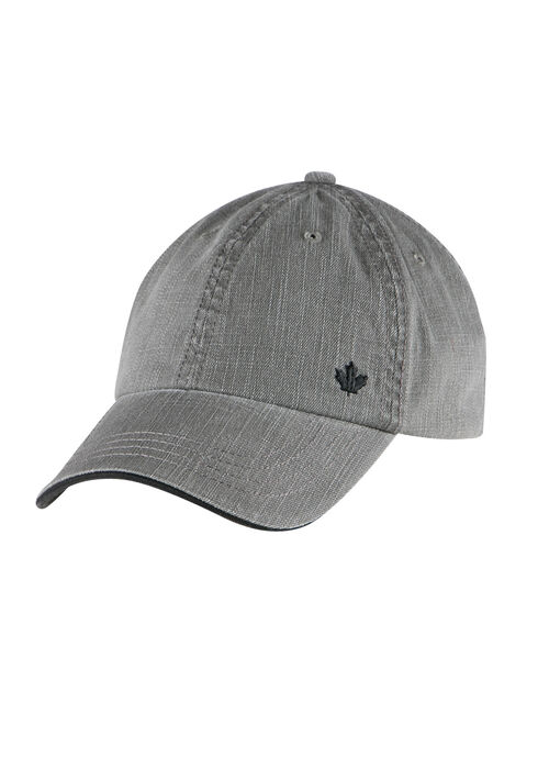 Men's Canvas Baseball Hat, GUN METAL, hi-res