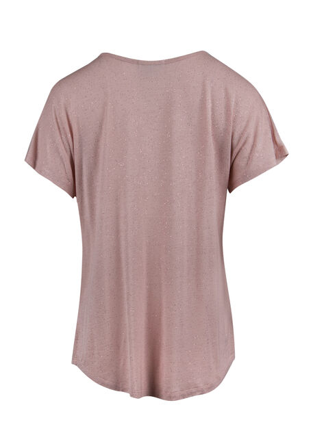 Ladies' Shimmer Tee, PEACH, hi-res