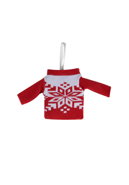 Ladies' Holiday Sweater Ornament Socks, SNOWFLAKE, hi-res