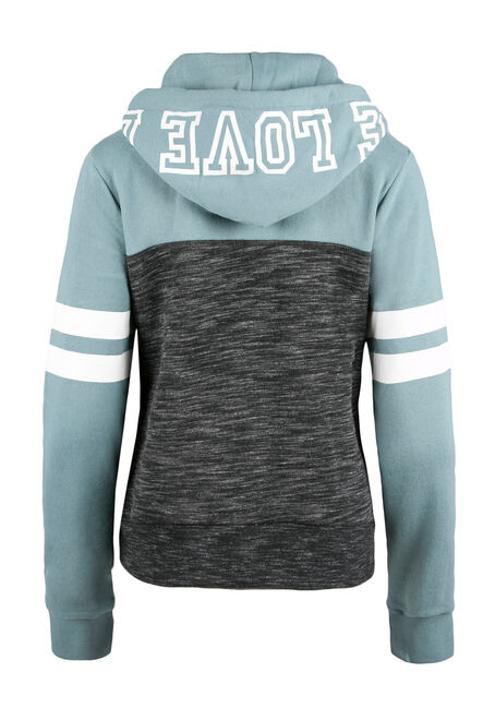 Ladies' Love Football Hoodie, TEAL GREEN, hi-res