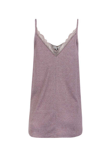 Ladies' Double V-Neck Tank, DUSTY PURPLE, hi-res