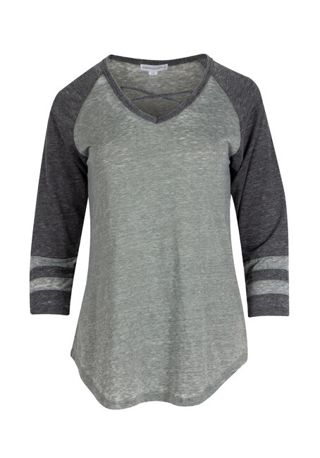 Ladies' Burnout Football Tee