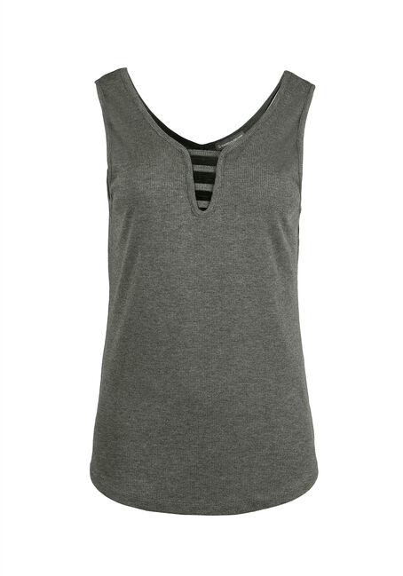 Ladies' Ladder Neck Tank, MILITARY, hi-res