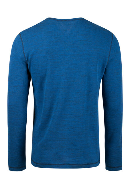 Men's Everyday Crew Neck Waffle Tee, Blue, hi-res