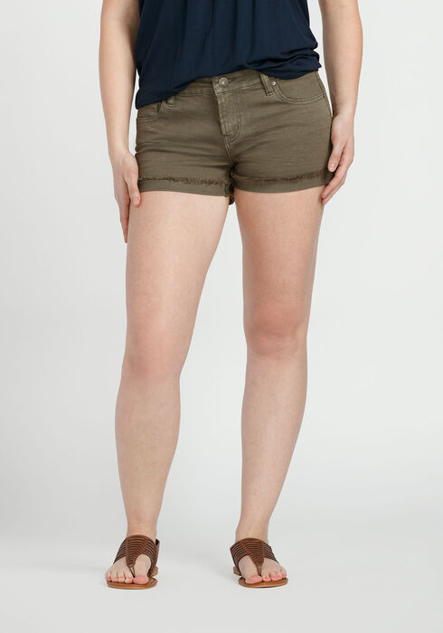 Ladies' Not-So-Short Short, OLIVE, hi-res