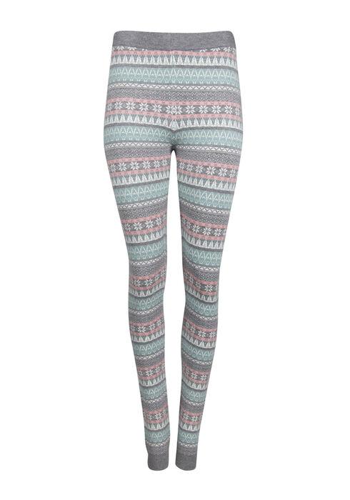Ladies' Snowflake Legging, PALE BLUE, hi-res