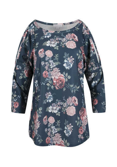 Ladies' Washed Floral Top