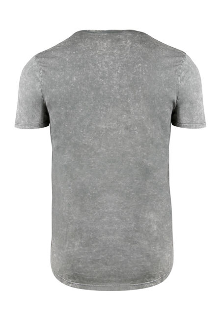 Men's Acid Wash Tee, GREY, hi-res