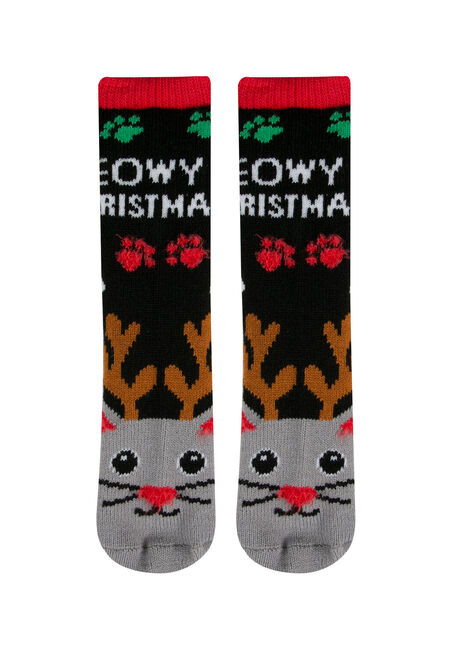 Ladies' Meowy Xmas Holiday Socks