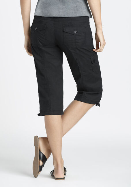 Ladies' Cargo Capri, BLACK, hi-res