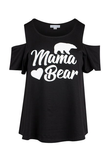 Ladies' Mama Bear Cold Shoulder Top