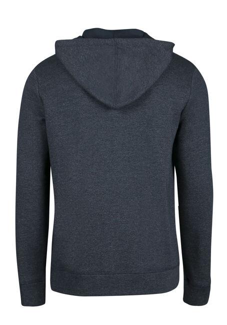 Men's Zip Front Hoodie, BLUE, hi-res