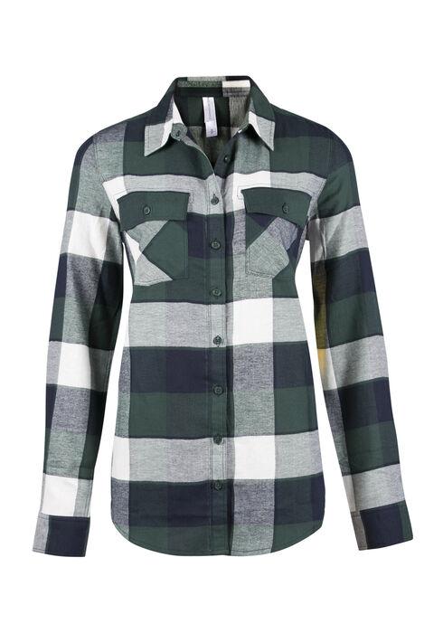 Ladies' Flannel Boyfriend Shirt, JASPER, hi-res