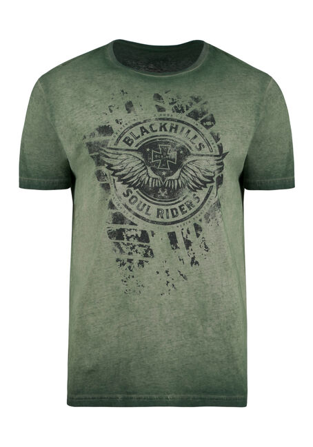 Men's Black Hills Soul Riders Tee, DARK OLIVE, hi-res